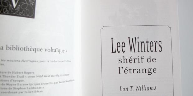 Lee Winters. Shérif de l'étrange